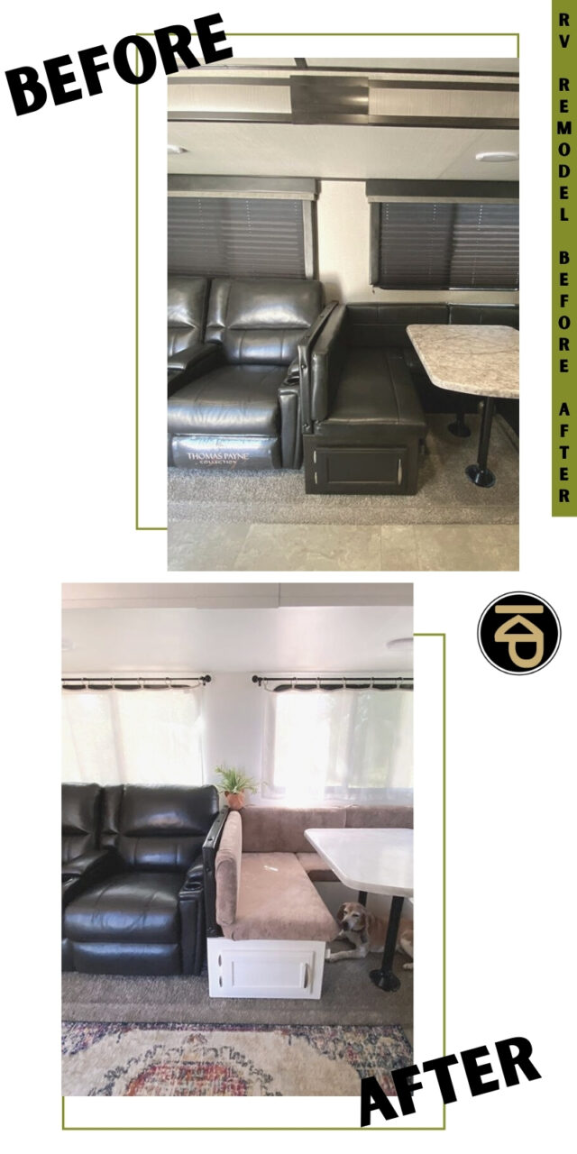 motorhome interior rv remodel before and after
