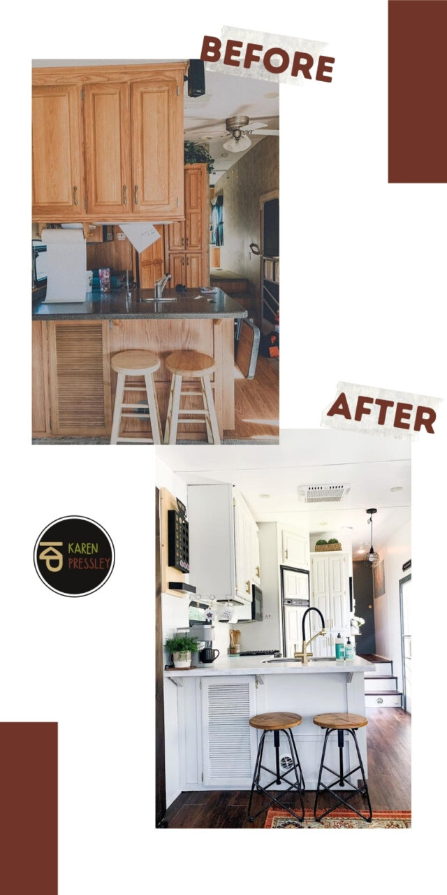 rv kitchen remodel before and after