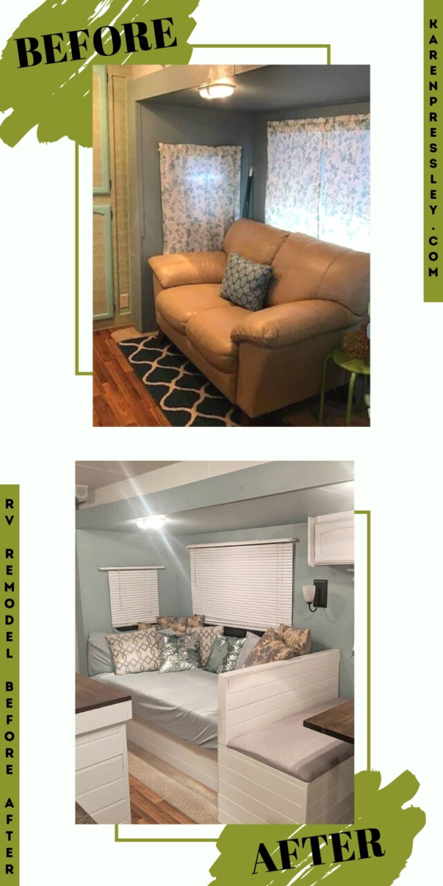 rv remodel before and after class c