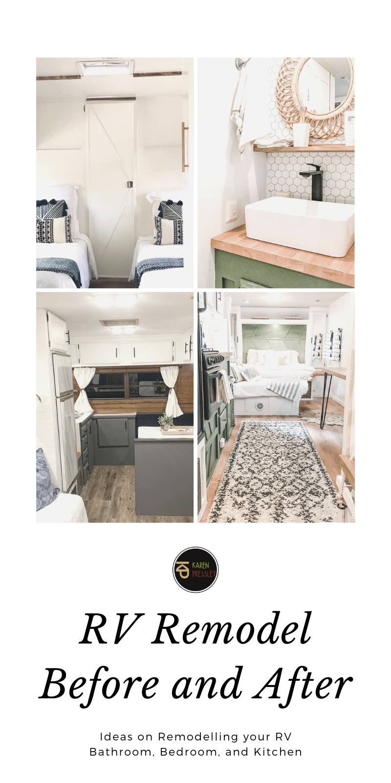 RV Remodel Before and After (Remodelling RV Bathroom, Bedroom, and Kitchen)