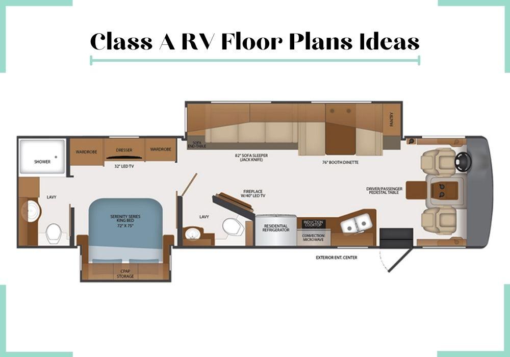 small rv floor plans