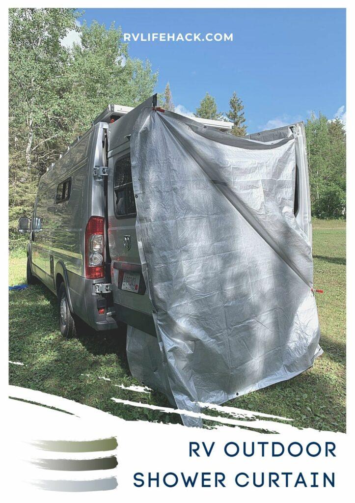 rv shower curtain upgrade