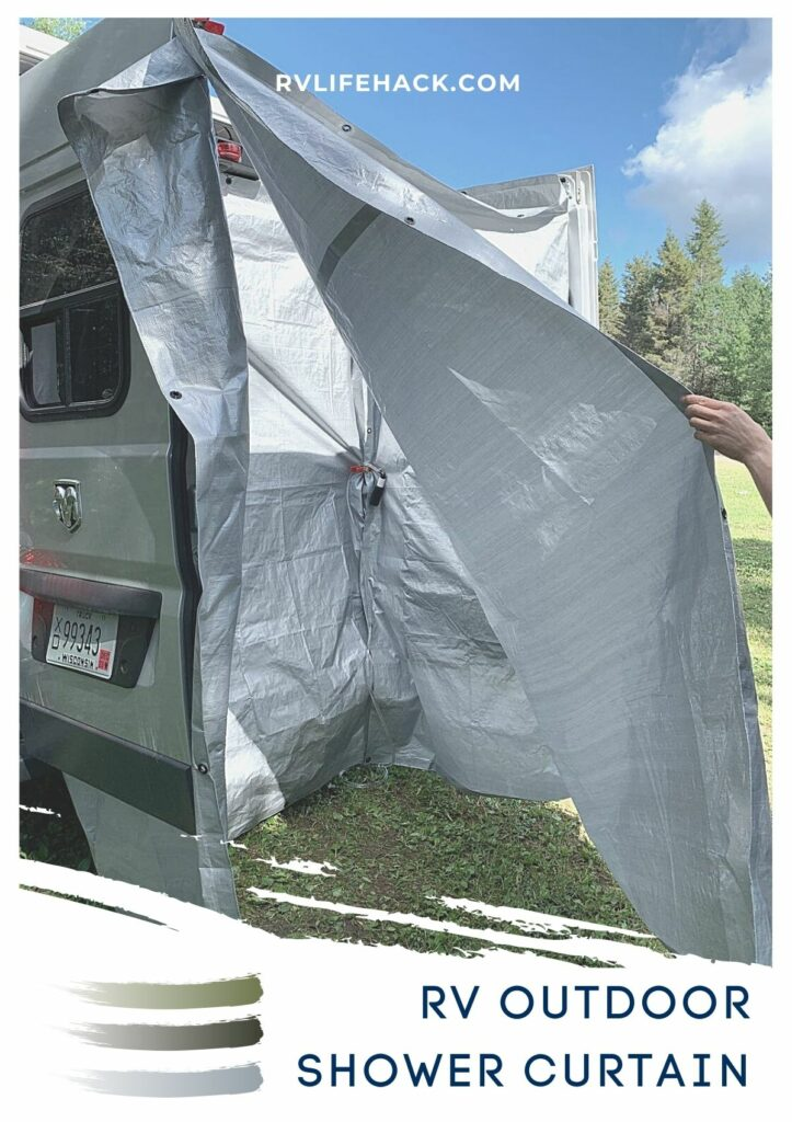 rv curved shower curtain