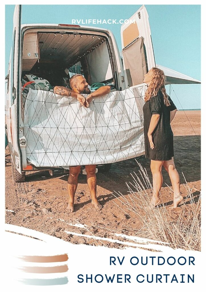 folding out rv shower curtain