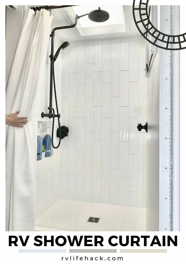 rv outside shower how to hang privacy curtain