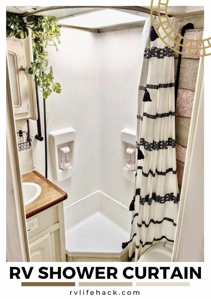rv shower curtain sheer
