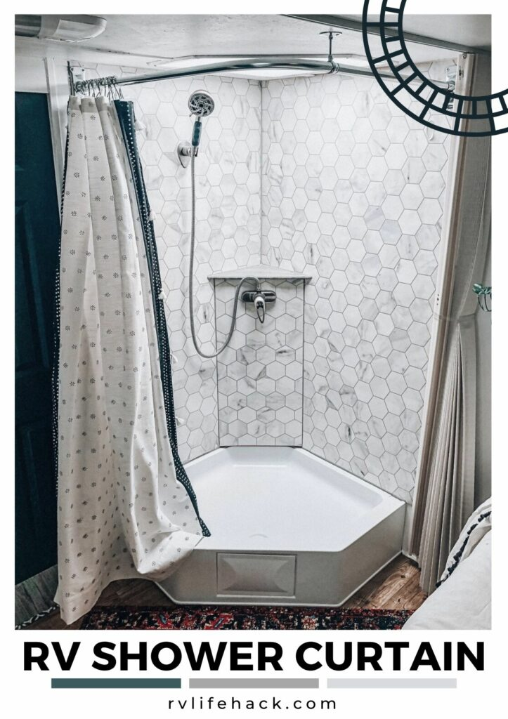 rv shower magnet strip for curtain closer