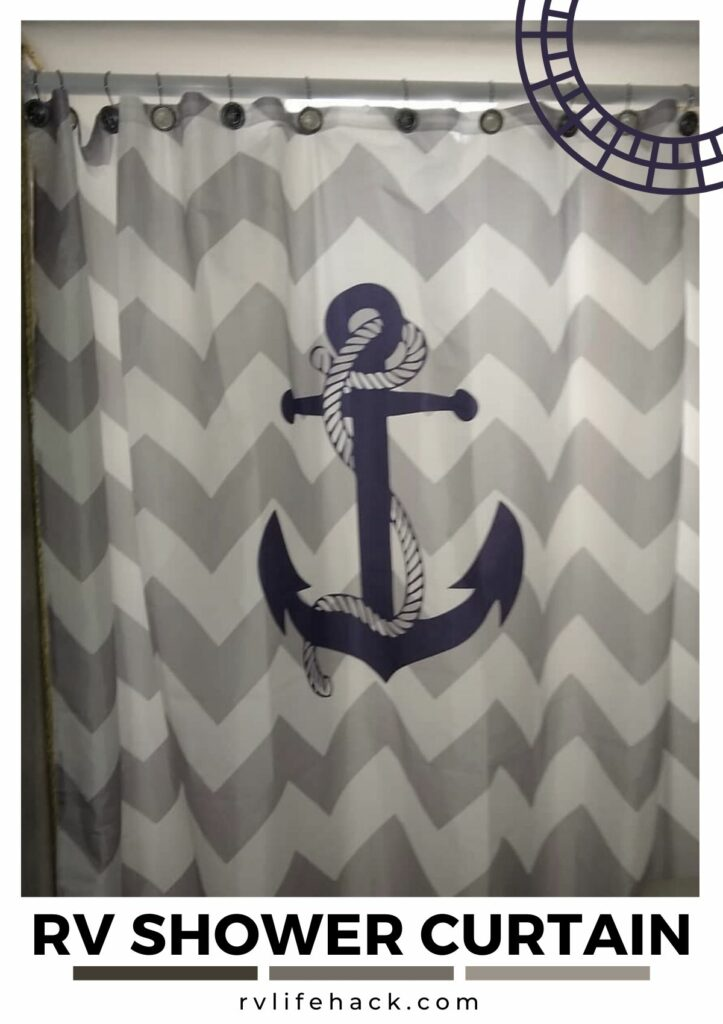 coachman rv folding shower curtain