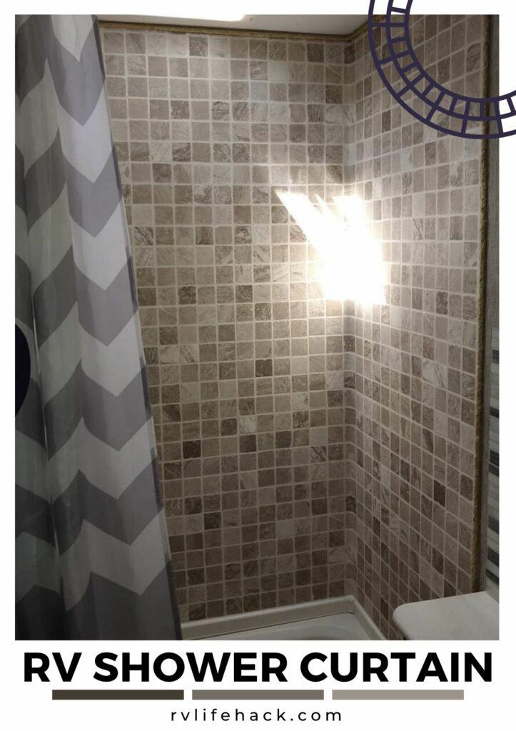 floral rv shower curtain