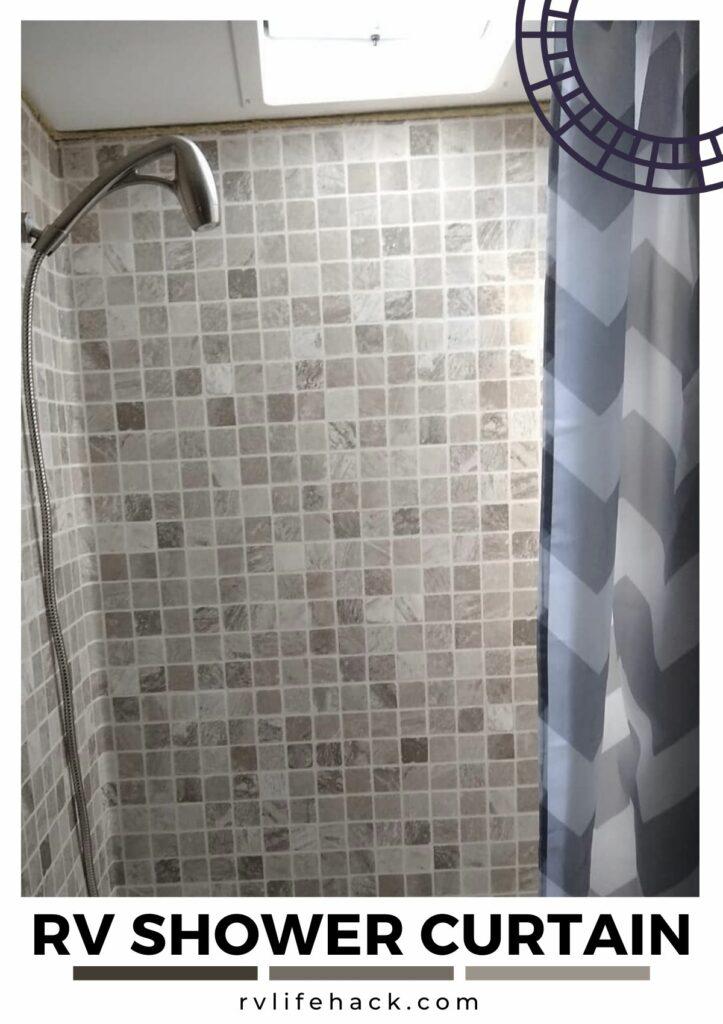 rv folding shower curtain
