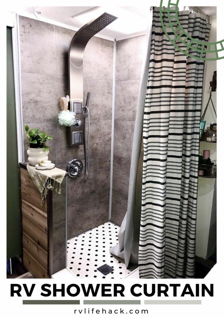 rv shower curtain track hooks