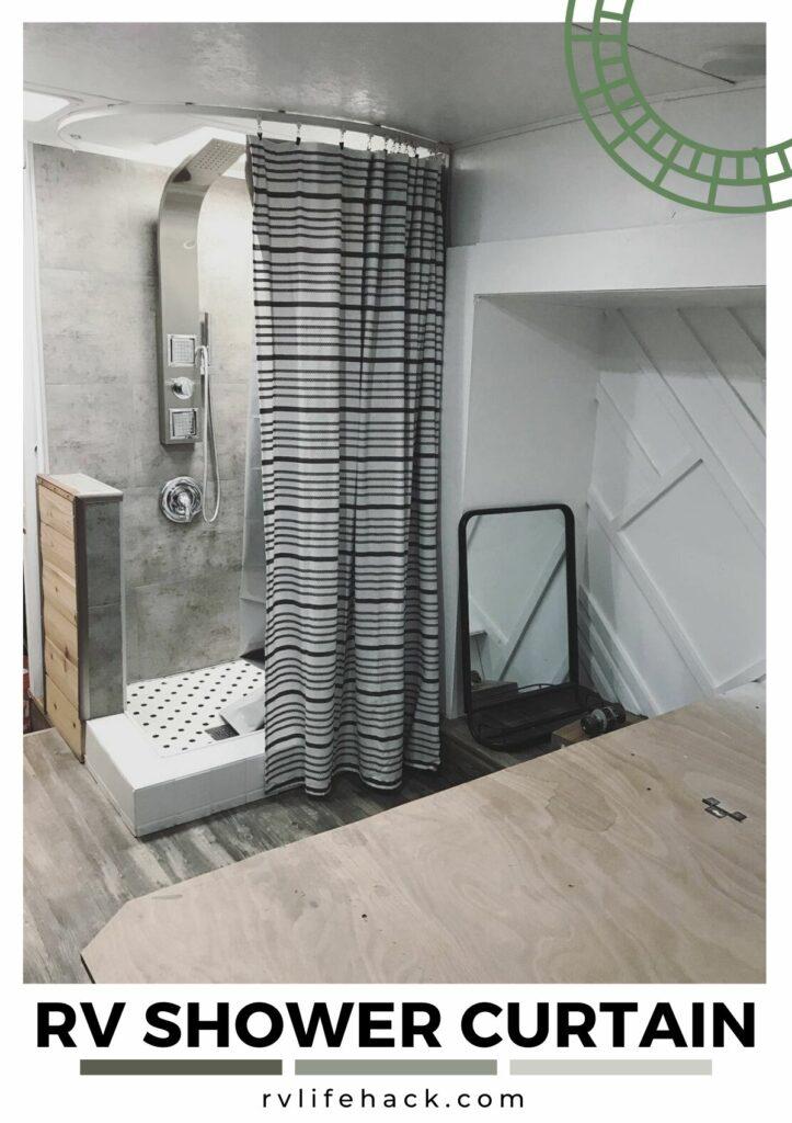 rv shower curtain rod factory