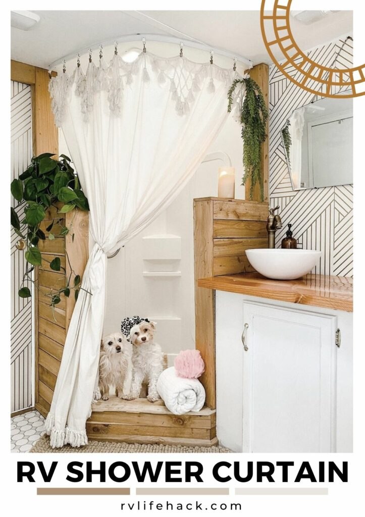 rv curved shower curtain track