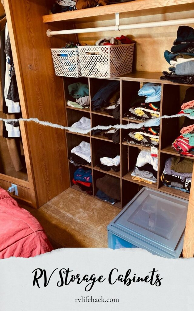 rv wall mounted clothes storage cabinets