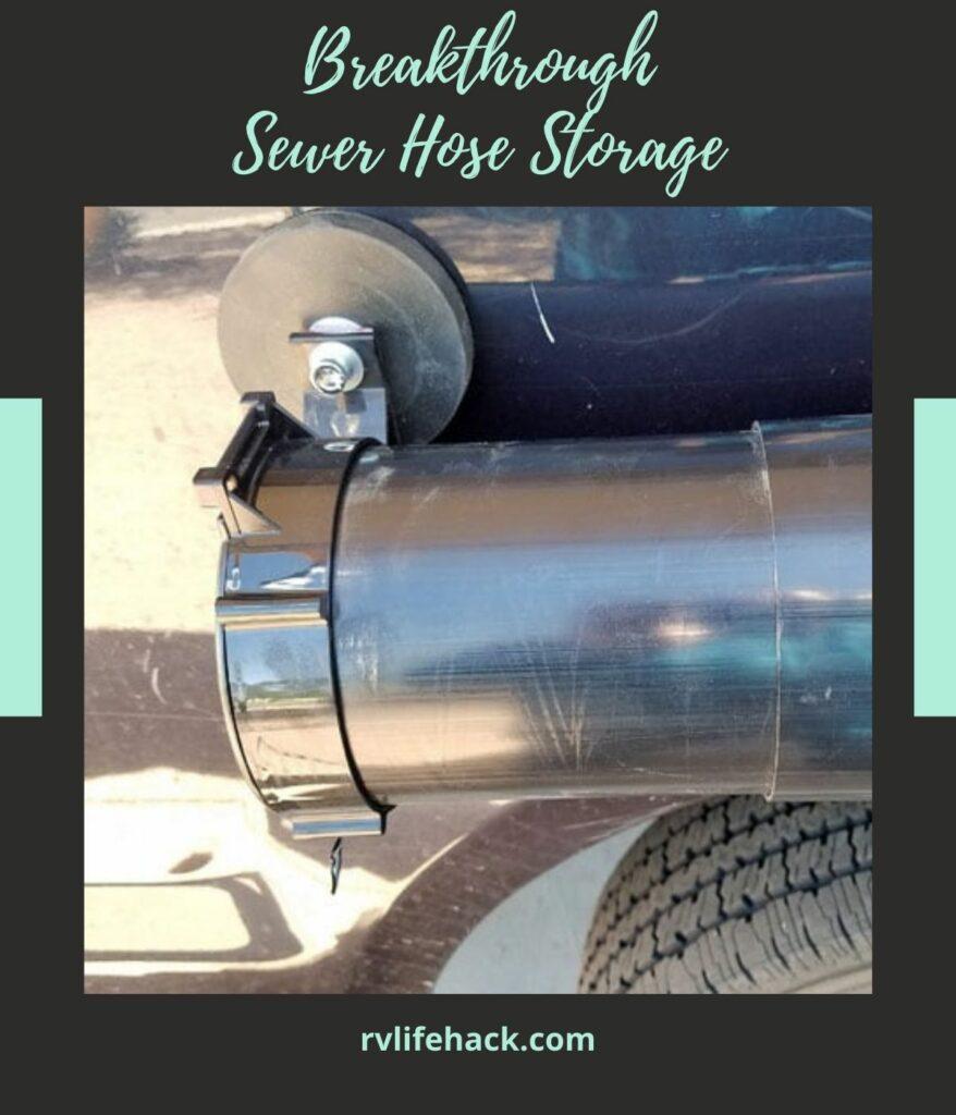 rv sewer hose storage tubes