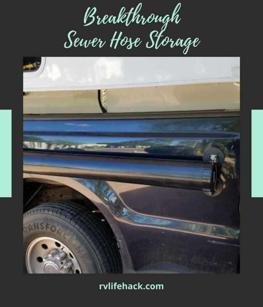 rv sewer hose storage container