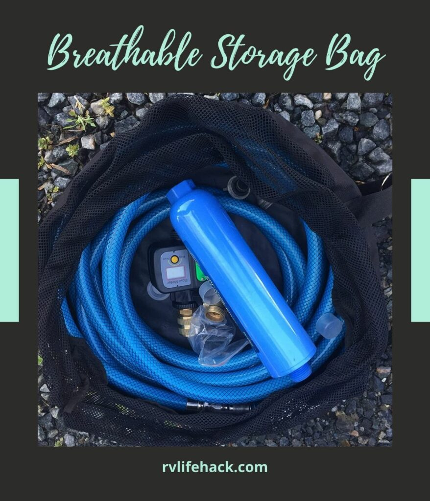 storage compartment for sewer hose on rv