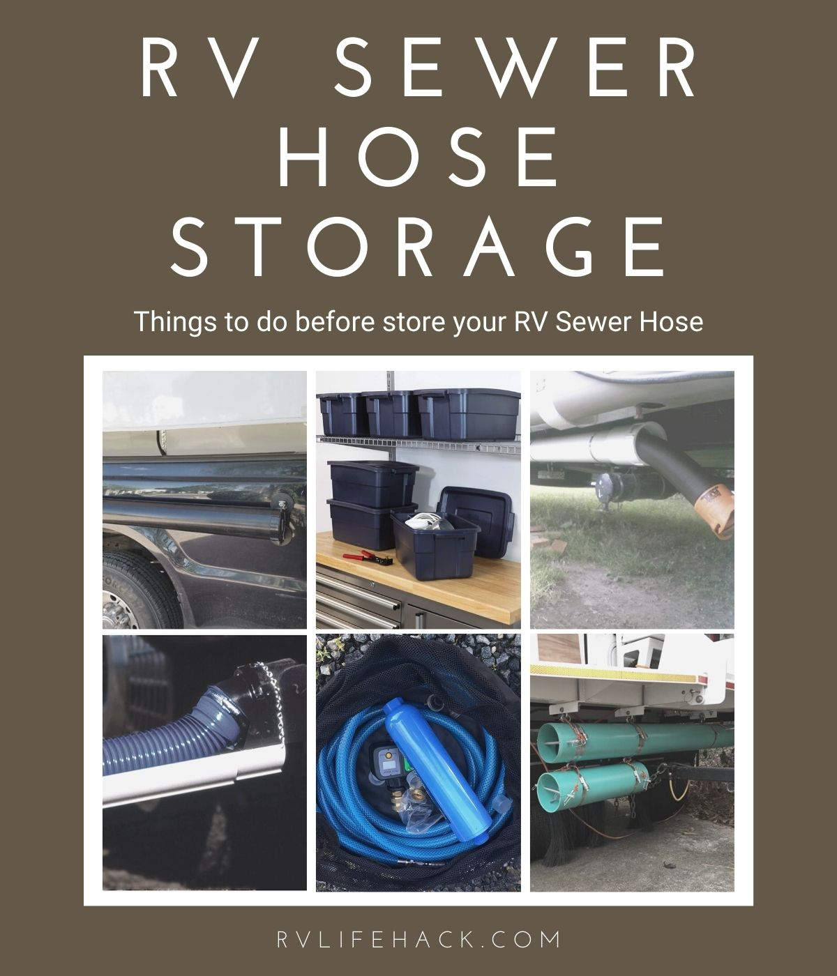 RV Sewer Hose Storage Ideas for New Campers 2021