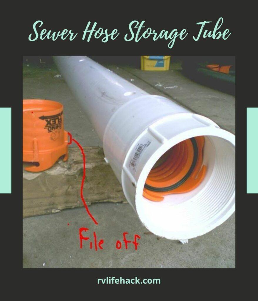 sewer hose storage for rv