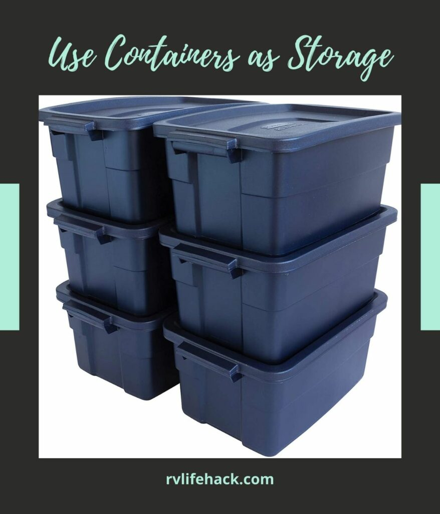 using rear bumper for rv sewer hose storage