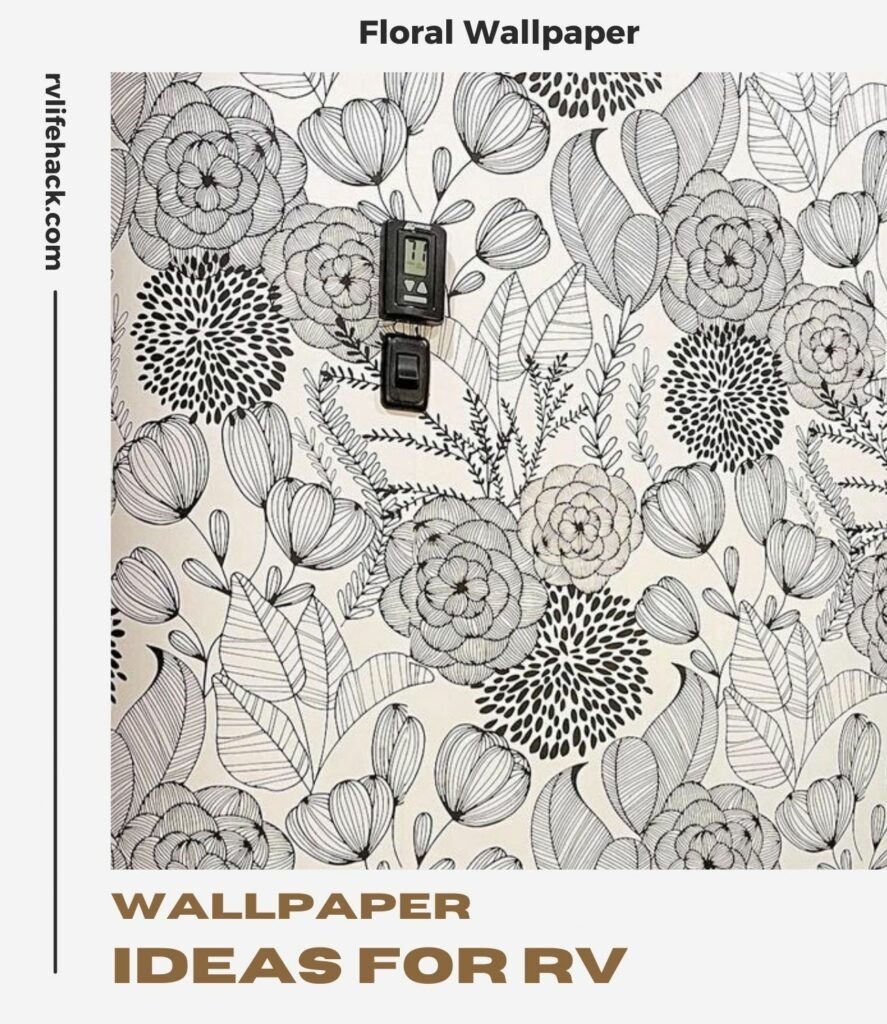 hang removeable wallpaper in a rv